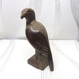 Ironwood Hand Carved Mexico Perched Eagle Statue